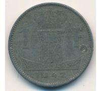 1 франк 1942 год Бельгия Немецкая Оккупация