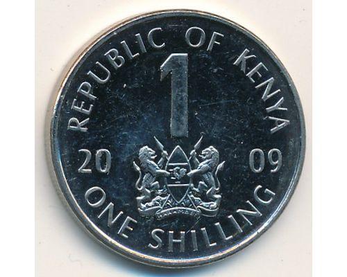 1 шиллинг 2009 год Кения Джомо Кениата