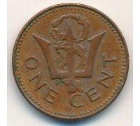 1 цент 1976 год Барбадос 10 лет независимости