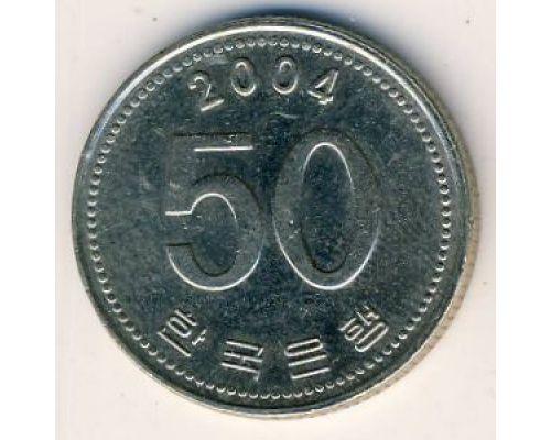 50 вон 2004 год Южная Корея