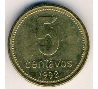5 сентаво 1992 год Аргентина