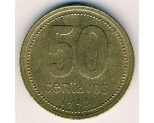 50 сентаво 1993 год Аргентина