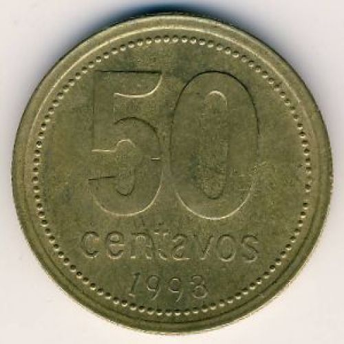 50 сентаво 1993 год. Аргентина