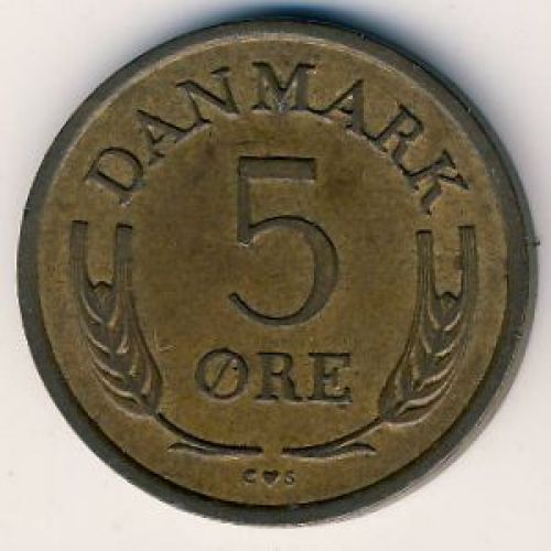 5 эре 1966 года. Дания