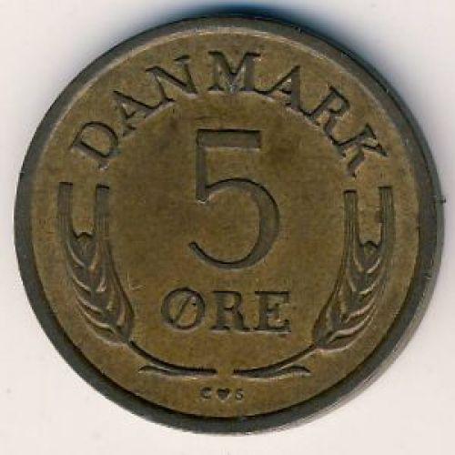 5 эре 1972 года. Дания