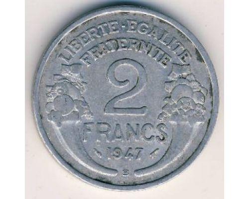 2 франка 1947 год Франция