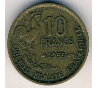 10 франков 1955 год Франция Петух