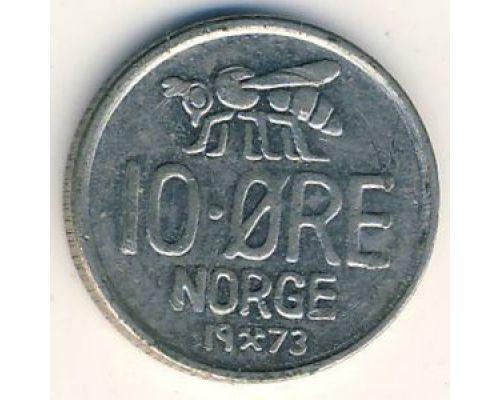 10 эре 1973 год Норвегия Пчела