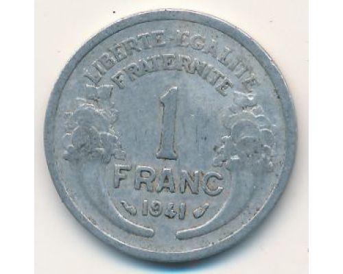 1 франк 1941 год Франция