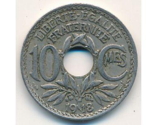 10 сентим 1918 год Франция (сантим)