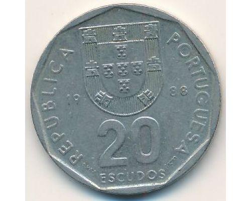 20 эскудо 1988 год Португалия