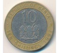 10 шиллингов 1997 год Кения Даниэль Тороитич Мои