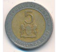 5 шиллингов 1997 год Кения Даниэль Тороитич Мои