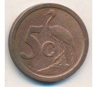 5 центов 1992 год ЮАР Журавль