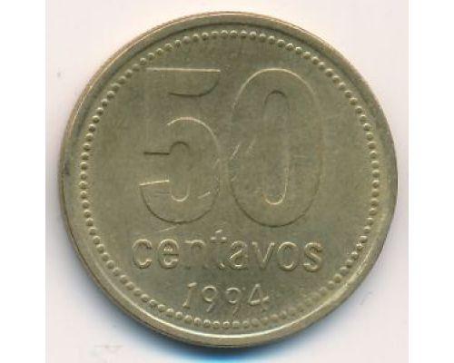 50 сентаво 1994 год Аргентина