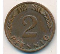 2 пфеннига 1965 ФРГ Германия