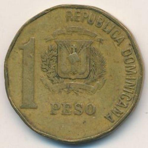 1 песо 1991 год Доминиканская Республика. Хуан Пабло Дуарте. Доминикана