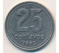 25 сентаво 1993 год Аргентина Медь-никель