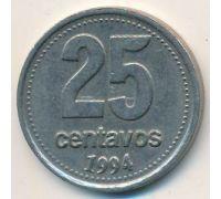 25 сентаво 1994 год Аргентина Медь-никель