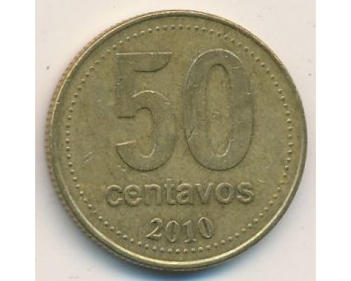 50 сентаво 2010 год Аргентина