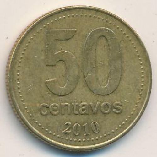 50 сентаво 2010 год. Аргентина