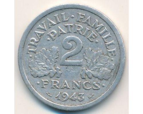 2 франка 1943 год Франция #2