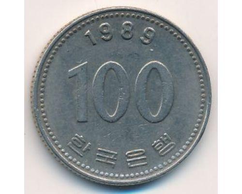 100 вон 1989 год Южная Корея Ли Сун-Син