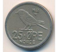 25 эре 1961 год Норвегия Птица