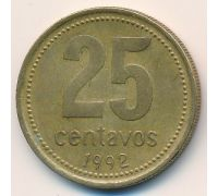 25 сентаво 1992 год Аргентина