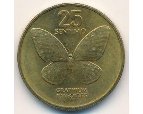 25 сентимо 1987 год Филиппины Бабочка