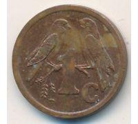 1 цент 1996 год ЮАР Птицы
