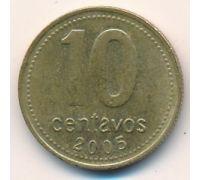 10 сентаво 2005 год Аргентина