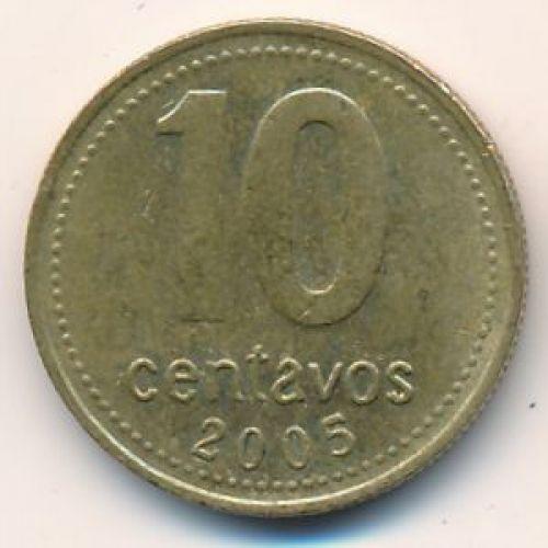 10 сентаво 2005 год. Аргентина