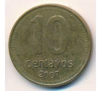 10 сентаво 2007 год Аргентина