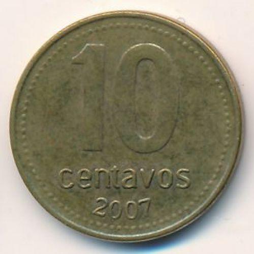 10 сентаво 2007 год. Аргентина