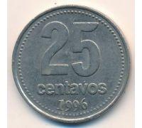 25 сентаво 1996 год Аргентина Медь-никель