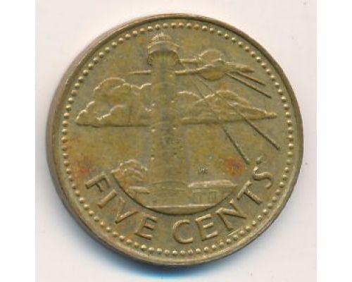 5 центов 1982 год Барбадос