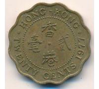 20 центов 1977 год Китай Гонконг