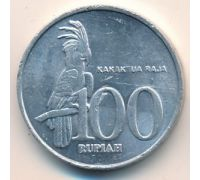 100 рупий 2001 год Индонезия. Какаду