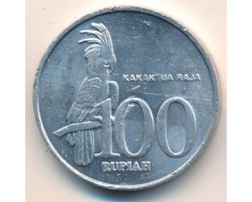 100 рупий 2001 год Индонезия Какаду