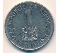 1 шиллинг 2005 год Кения Джомо Кениата