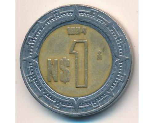 1 новый песо 1994 год Мексика