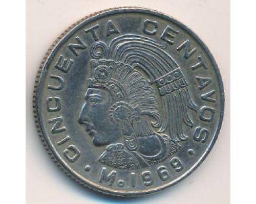 50 сентаво 1969 год Мексика