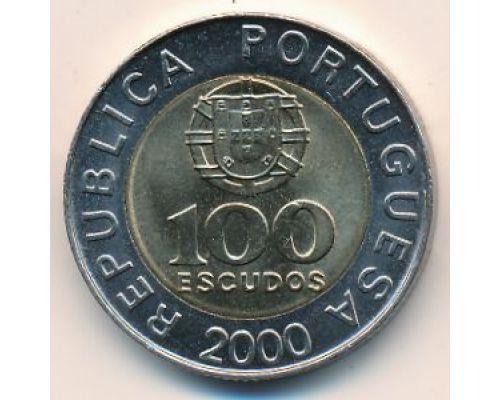 100 эскудо 2000 год Португалия Педро Нуниш