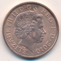 2 пенса 2010 год Великобритания