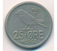25 эре 1963 год Норвегия Птица