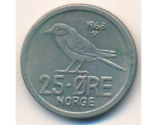 25 эре 1968 год Норвегия Птица