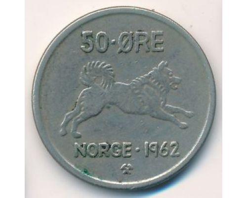 50 эре 1962 год Норвегия Собака