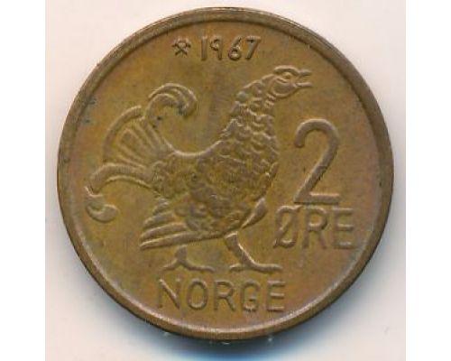 2 эре 1967 год Норвегия Шотландская куропатка