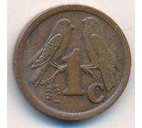 1 цент 1992 год ЮАР Птицы